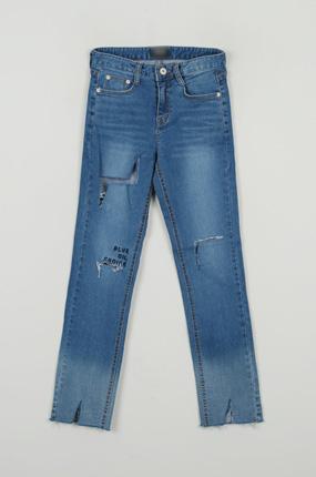 <b>[样品出售]牛仔色teuim刺绣裤子[7016]</b>