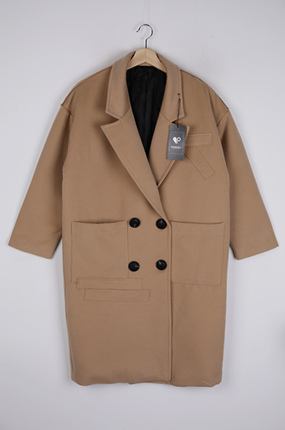 <b>[样品出售]旺松款长款补丁大衣</b>