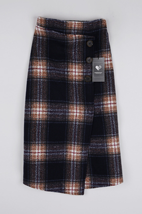 <b>[样品出售]块格子长裙</b>