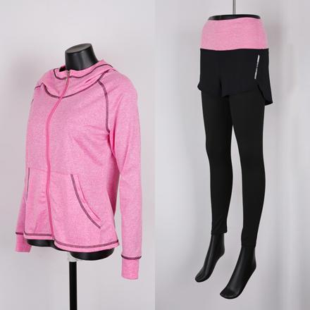 <b>[样品销售] [SET]华纳坑拉链卫衣+打底裤套装</b>