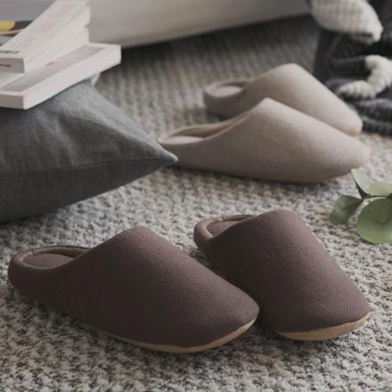 <b>[防止层间噪声]细纹拖鞋(2color)</b>