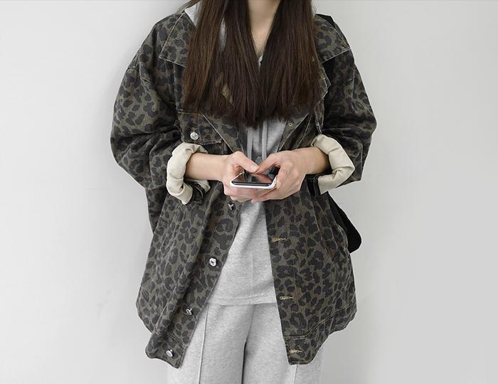 <b>豹纹豹纹Box Jacket</b>
