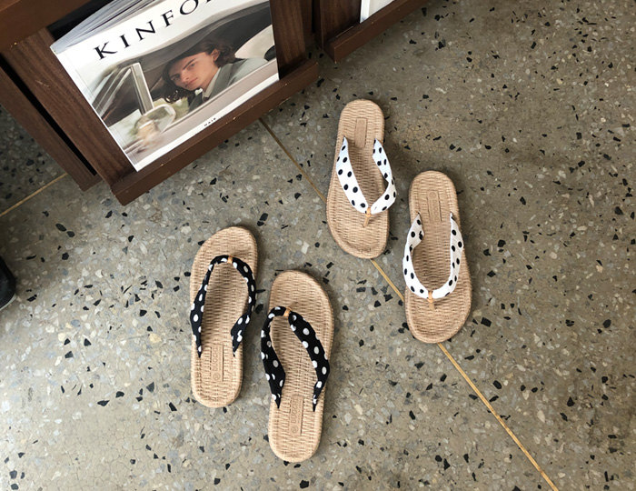 <b>Dot Line稻草拖鞋(1cm)</b>